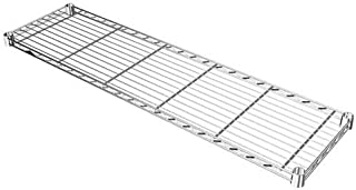 ルミナス ポール径19mm用パーツ 棚板 スチールシェルフ(耐荷重150kg)ワイヤー幅方向 1枚(スリーブ付き) 幅89.5×奥行24.5cm ST9025