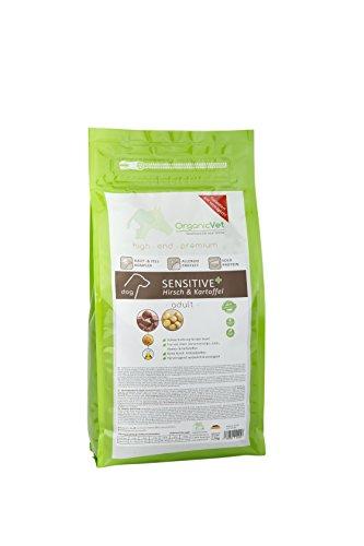 OrganicVet hond droog voedsel Sensitive + vrij van verrijdingen herten & aardappel, per stuk verpakt (1 x 1,5 kg)