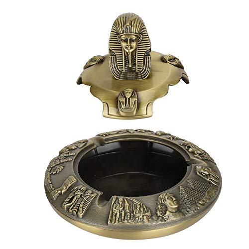 Artes decorativas, Cenicero Retro de aleación de zinc para oficina para el hogar para escritorio(Bronze)
