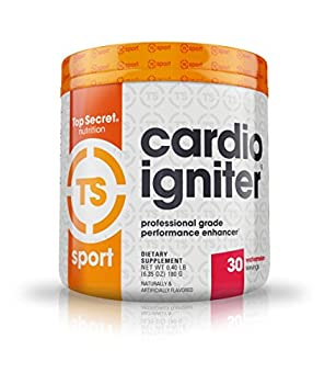 Top Secret Nutrition Cardio Igniter Pre-workout Supplement with Beta-alanine L-Carnitine and Red Beet Extract 6.35 oz  180g   30 Servings  Watermelon