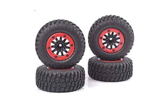 Conveniente neumático de coche Rc, Neumáticos 4pcs / Set Escala 1:10 Bead-Lock RC Short Course Ruber y llantas encajan raya vertical HPI modelo de coche Accesorios Juguetes para modelo de coche