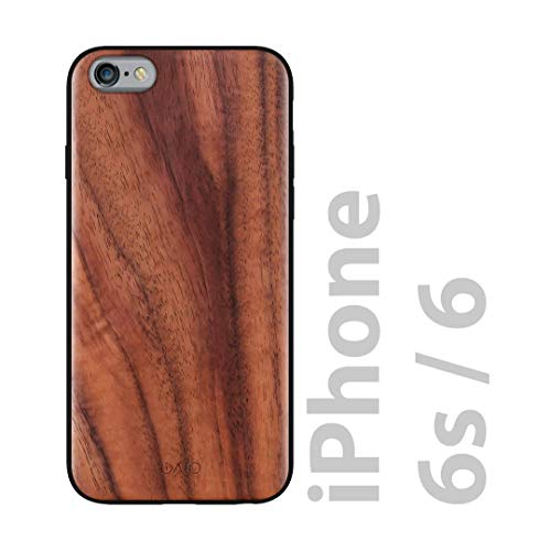 iATO iPhone 6 / 6s Wooden Case - Real Walnut Wood Grain Premium Protective Shockproof Slim Back Cover - Unique, Stylish & Classy Snap on Thin Bumper Accessory Designed for iPhone 6 / 6s
