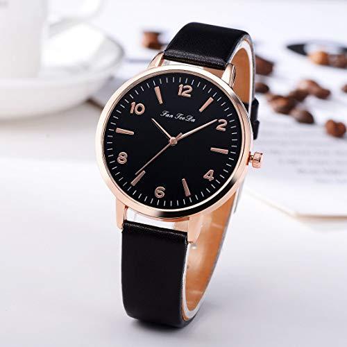 Momorain Relojes de Pulsera de Cuarzo con Esfera Redonda para Mujer Reloj de Horas de Moda Simple Cinturón de Cuero para Mujer Relojes de Pulsera para Mujer