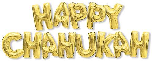 Cazenove Happy Chanukah Balloon Decoration for Your Hanukkah Party - Gold