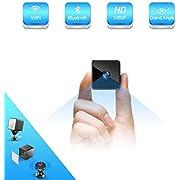 Bluetooth Mini Camera Espion,MHDYT HD 1080P camera surveillance wifisans fil avec Bluetooth Speaker,Vision Nocturne et Detecteur de Mouvement,Intérieure / Extérieure Micro Cachée Spy IP Camera de Sécurité