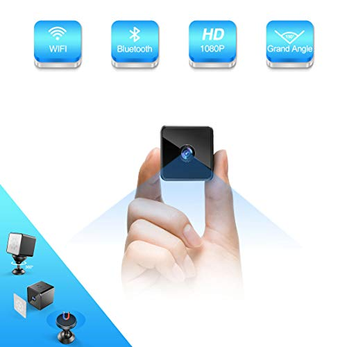 Bluetooth Mini Camera Espion,MHDYT HD 1080P Camera Surveillance WiFisans Fil avec Bluetooth...