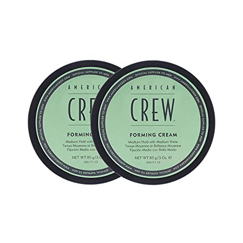 American Crew Forming Cream, 3 oz, (2 Pack) Pliable Hold with Medium Shine, 6 oz.