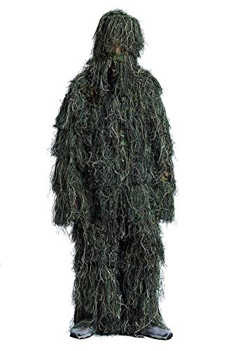 Kayheng 3D Ghillie Suit Traje de Camuflaje para Caza Desert/Woodland/Snow Camouflage Ligero Escondido