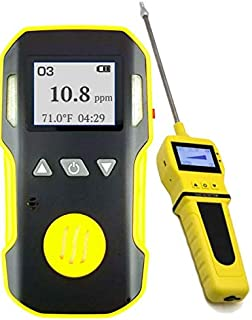 OZONE O3 Detector & Analyzer + PUMP with Probe by FORENSICS | Professional | ABS & Grip Rubber | Water, Dust & Explosion Proof | USB Rechargeable Battery | Adjustable Alarms | 0-20ppm O3 |