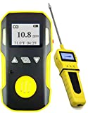 OZONE O3 Detector & Analyzer + PUMP with Probe by FORENSICS | USA NIST Calibrated | USB Recharge Battery | Adjustable Alarms | 0-20ppm O3 |
