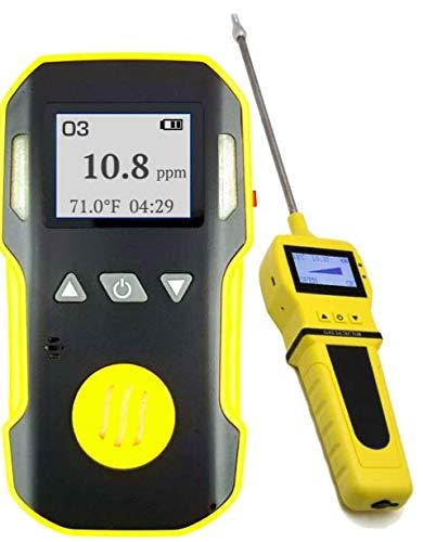 Detector y analizador OZONE O3 + bomba con sonda de FORENSICS | Profesional | ABS & goma de agarre | a prueba de agua, polvo y explosión | Batería recargable USB | Alarmas ajustables | 0-20 ppm O3 |