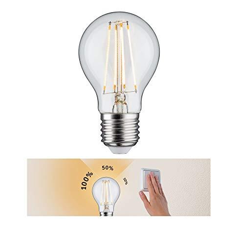 Paulmann 28571 LED Lampe AGL 7,5 Watt dimmbar Leuchtmittel Klar Birne Beleuchtung 2700 K E27