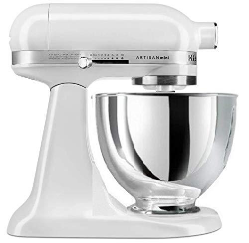 KitchenAid RKSM33XXFP Artisan Mini 3.5 Quart Tilt-Head Stand Mixer, Qt, Frosted Pearl (Renewed)