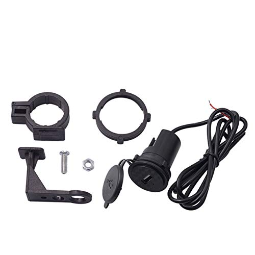 MARSPOWER 5V 1.5A Adaptador de Enchufe de Cargador USB para Motocicleta Toma de Corriente con Cubierta Impermeable e Interruptor para 12V / 24V Marine, Barco, Motocicleta, Camión - Negro