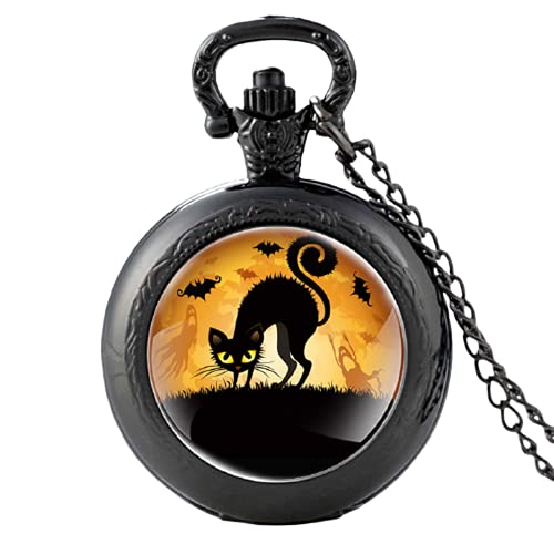 Halloween La Pesadilla Antes de Navidad Cristal Cabujón Cuarzo Reloj de Bolsillo...
