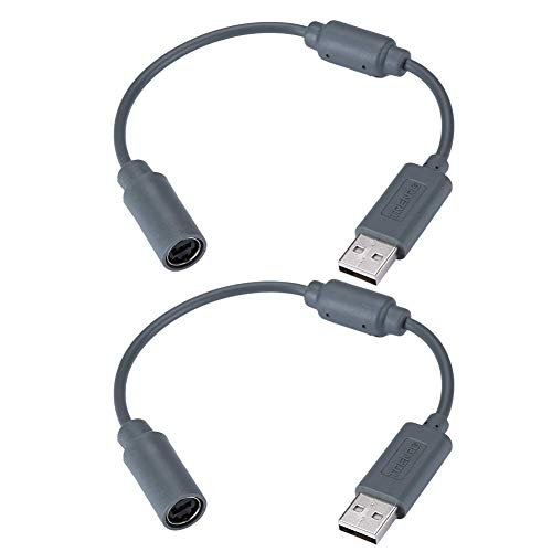 Trenro 2pcs Wired Controller USB Breakaway Cable for Microsoft Xbox 360