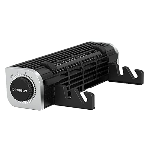 Non-brand Enfriador Duradero para computadora portátil, Ventilador Horizontal de turbina de Flujo Cruzado, 3 velocidades con Soporte Ajustable, Viento Fuerte - Ronda 620g