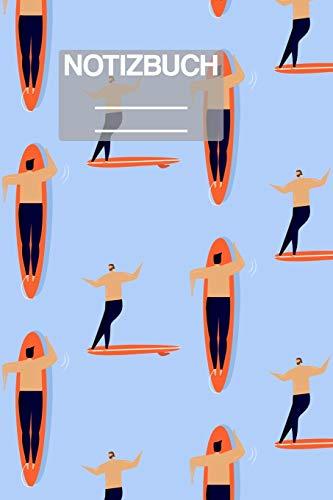 Notizbuch A5 Muster Zeichnung Surf Surfing Männer Mann: • 111 Seiten  • EXTRA Kalender 2020 •  Einzigartig •  Liniert •  Linie •  Linien  • Geschenk • Geschenkidee