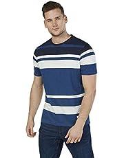 Lee Cooper Men's 3203011 KANE Knitted Cotton T-Shirt, Blue