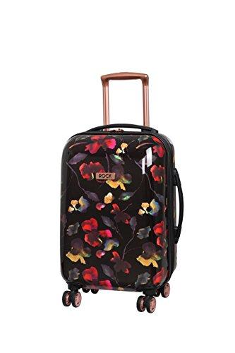 Rock London 55cm Montana Expandable 8 Wheel Hard Shell Spinner Suitcase Dark Floral
