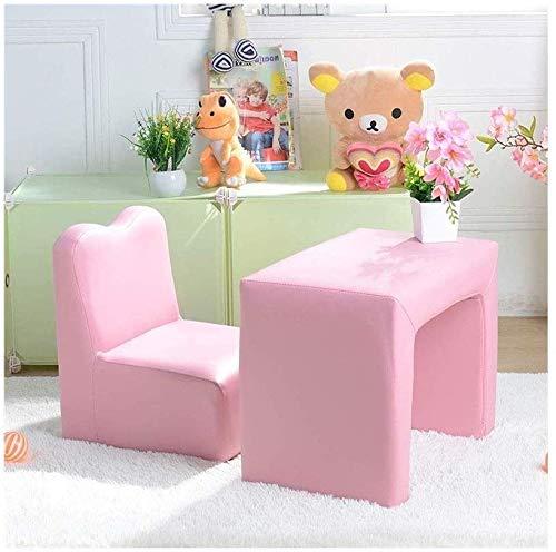 QTQZDD kinderstoel pu zitje kindertafel baby multifunctionele stoel en tafelkruk kindersofa, leer 1 1