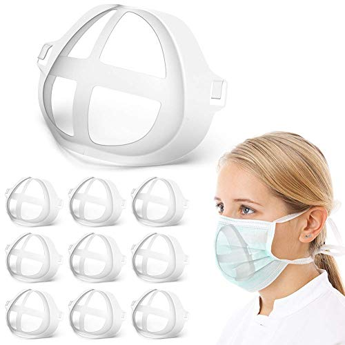 Baoota Mask Bracket-10Pcs Silicone Face Bracket Internal Support Holder Frame Nose Breathing Smoothly-Protect Lipstick Lips-DIY Face Mask Accessories