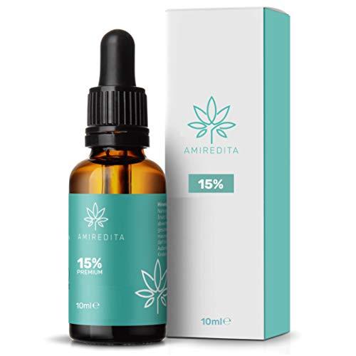Amiredita Premium 15{d463a280cfa3acfe8149b677a192b26b4d78a547ef12a3fe293213d248eeee63} Prozent Vitalkomplex aus Natur Öl Tropfen - Rein natürliche Zutaten - Angenehmes Aroma - Geprüft und zertifiziert nach höchsten EU-Standards - Vegan - 10ml
