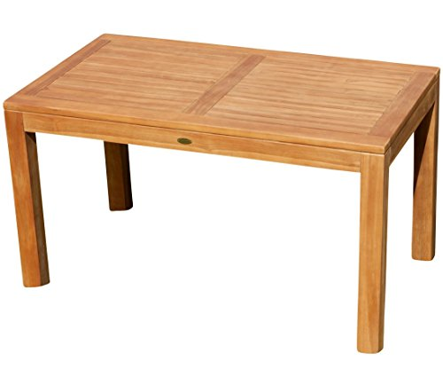ASS Wuchtiger Echt Teak Bigfuss Gartentisch 140x80 Holztisch Teaktisch Garten Tisch Holz 8x8cm Dicke Füße