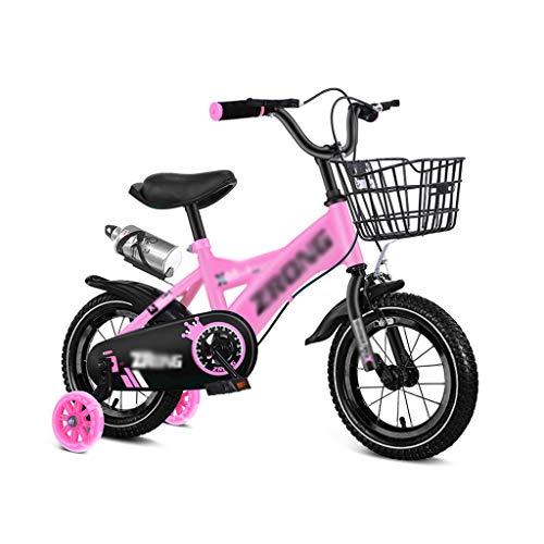 GLJ Vélos enfantsVélo Enfant,12/14/16/18 Pouces,3-4-5-6-7-8 Vélos pour Garçons Et Filles,avec Porte-gobelets Et Paniers, 5 Couleurs Disponibles(Size:12-1)
