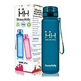 HoneyHolly Botella de Agua Deportes 500ml Sin Bpa & Apertura con un Solo botón Reutilizable Filtro Botella Gimnasio Tritan Plástico para Niños, Sport, Gimnasio, Trekking, Bicicleta