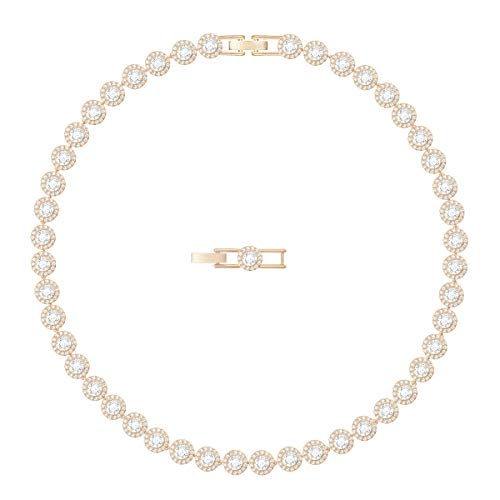 Swarovski Women's Angelic Necklace, Brilliant White Crystals with Elegant Rose-Gold Tone Plated Metal, from the Swarovski Angelic Collection