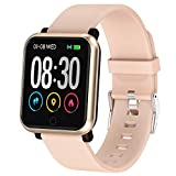 EpochAir Fitness Tracker, Waterproof Activity Tracker, Smart Watch with Heart Rate Monitor, Sleep Monitor, Pedometer, Calorie Counter Sports Fitness Watches for Men Women (Light Pink)