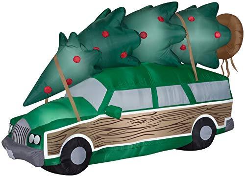 Gemmy Airblown-NLCV Station Wagon w/Tree-Scene-WB