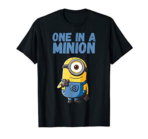 Despicable Me One In A Minion Blue Minion Drawing T-Shirt