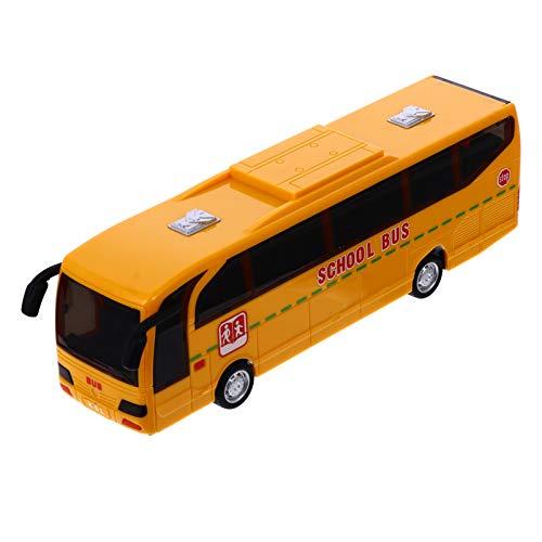 Gadpiparty Autobús Escolar de Juguete de Fundición a Presión Amarillo Autobús Escolar Clásico Autobús Escolar Simulados Sonidos Y Luces Juguete de Autobús para Niños Juguetes Musicales de