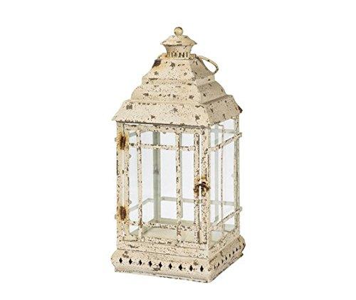 Lanterne en fer blanc antique