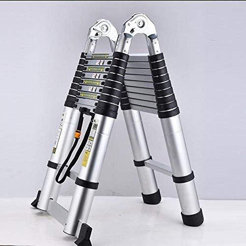 TAYIBO Mehrzweckleiter Anlegeleiter Klappleiter Stehleiter Aluminium,Hauptteleskopdekoration-Elektrikerleiter, Multifunktions-, beweglichleiter2.9 faltend
