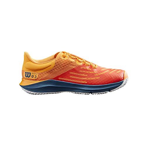 Wilson Zapatillas de deporte para niños, KAOS 3.0 JR, Rojo/Amarillo/Azul/Blanco, 38, Para todas las superficies, Todo tipo de jugadores, WRS327850E050