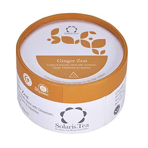 Solaris Tea Bio - Ginger Zest, 15 Seidenteebeutel, 1er Pack (1 x 30 g)
