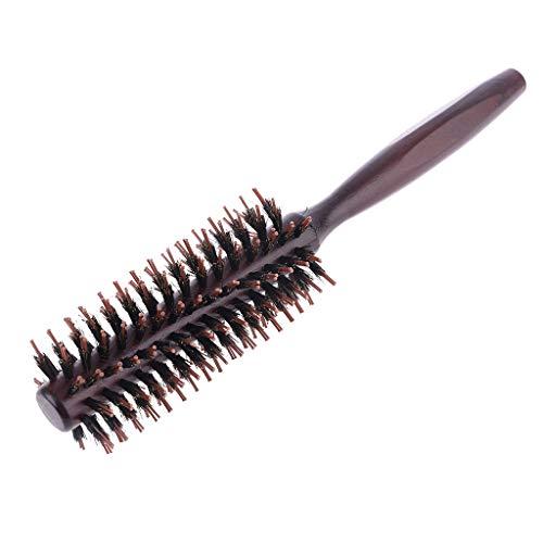Incdnn 6 tipos recta de sarga peine de pelo cerdas de jabalí natural cepillo de balanceo redondo barril soplado rizado DIY peluquería herramienta de peinado