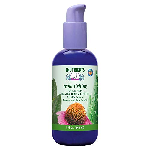 Montana Emu Ranch - Replenishing Hand and Body Lotion - 8 Ounce Bottle - Unscented Formula, Enhanced with Pure Emu Oil
