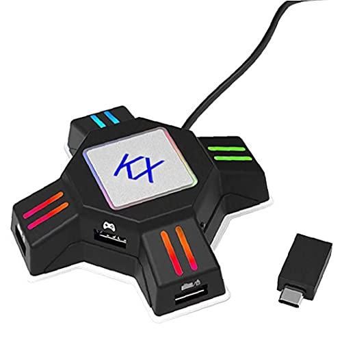 Adaptadores de conversión Adaptador de mouse del teclado Gamepad Controller Converter KX...