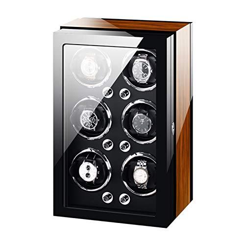 Cajón para guardar relojes y joyas Reloj automático Minodineros Caja 6 Reloj flexible suave Almohada Motor silencioso Ajuste Mujeres Relojes Relojes Pantalla Pintura Exterior Estuche de almacenamiento