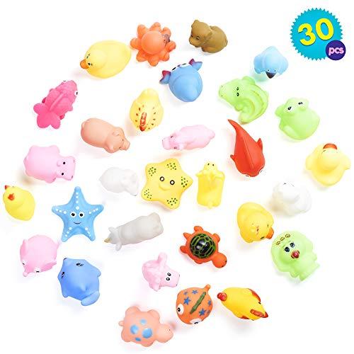 Set di 30 animali da fattoria galleggianti dai colori vivaci - Ideale per divertirsi in bagno, in piscina, ecc. - Include una grande varietà di giocattoli