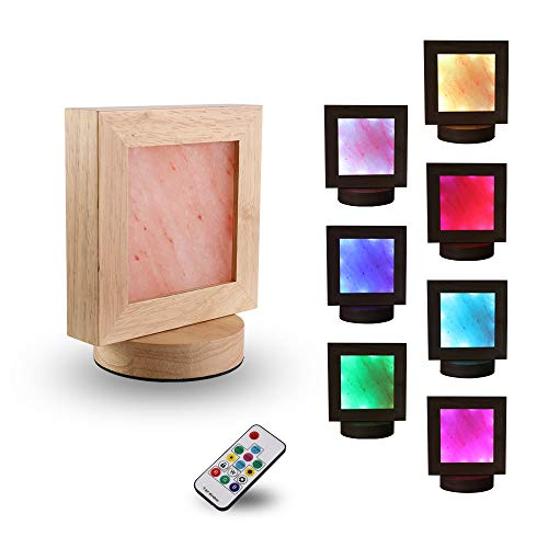 HOSUN Himalayan Salt Lamp With Brightness Control Dimmer Switch Color Changing Lamp, Sea Salt Lamp Night Light For Bedrooms, Office Home Deco