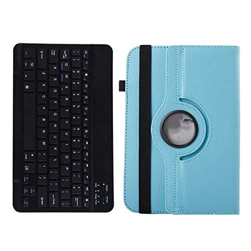 Gaetooely Funda para Tableta + Teclado para Teclast M40 Teclast P20HD IPlay20 Teclado InaláMbrico + Funda Abatible (Azul)