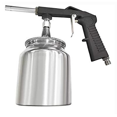 Air Undercoating Spray Gun with Suction Feed Cup, Apply Sprayable Truck Bed Liner Coating, Rubberized Undercoat, Rust Proofing, Chip Guard Paint