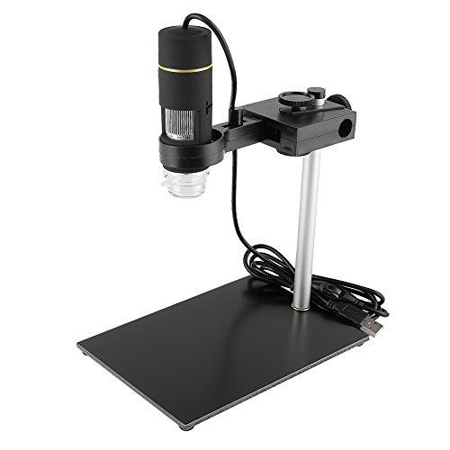 KKmoon Microscópio 1000X Ampliação USB Digital com Função OTG Endoscópio 8-LED Lupa Ampliador com Suporte