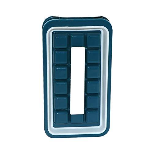 Angmile Vassoi per blocchi di ghiaccio con coperchi Macchina per ghiaccio per piccoli frigoriferi Vassoi compatti per stampi per ghiaccio Macchina per il taglio di ghiaccio di piccole dimensioni