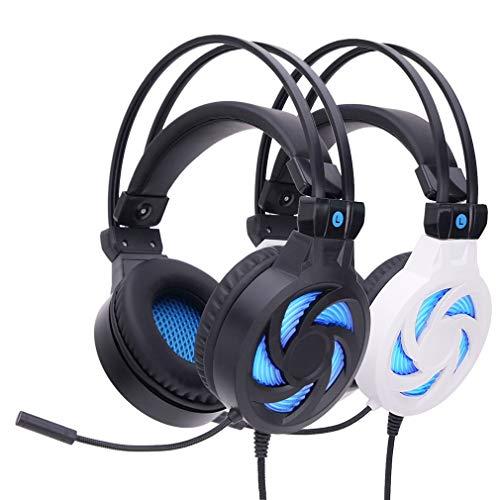 DSAX Ear Headphones Blanco y Negro luminiscencia Tipo Auriculares...
